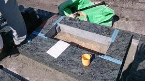 石碑建立工事
