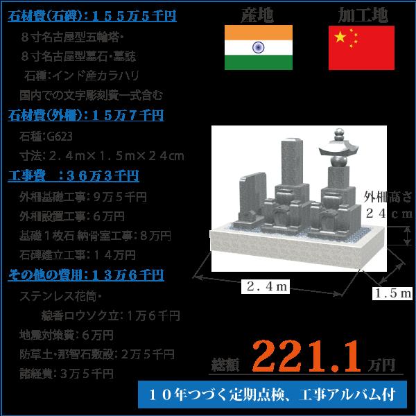 インド産カラハリ五輪塔墓誌セットの価格
