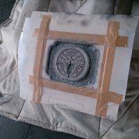 お墓の家紋彫刻