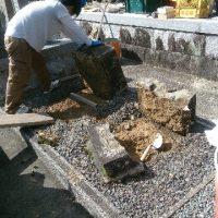 美濃市で墓石リフォーム工事 解体工事