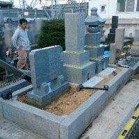 本巣市で墓石リフォーム工事、墓石建立
