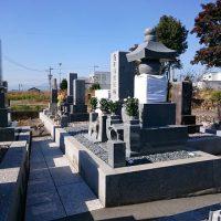 本巣市で墓石リフォーム完成、納骨式。大垣北部霊園で新しい墓石建立工事、基礎工事