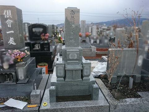 大垣市 羽衣霊園で新しい墓石の外柵設置、大垣北部霊園で新しい墓石の建立