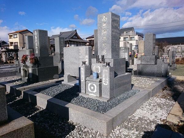 大垣市 廻向院で墓石リフォーム工事、墓石建立
