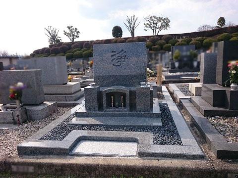 美濃加茂市で墓石の建立工事