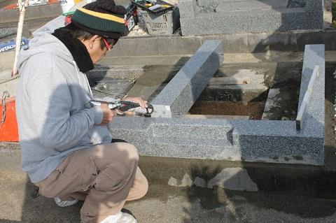 羽島市 不破一色墓地で外柵工事