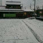 雪の中での納骨