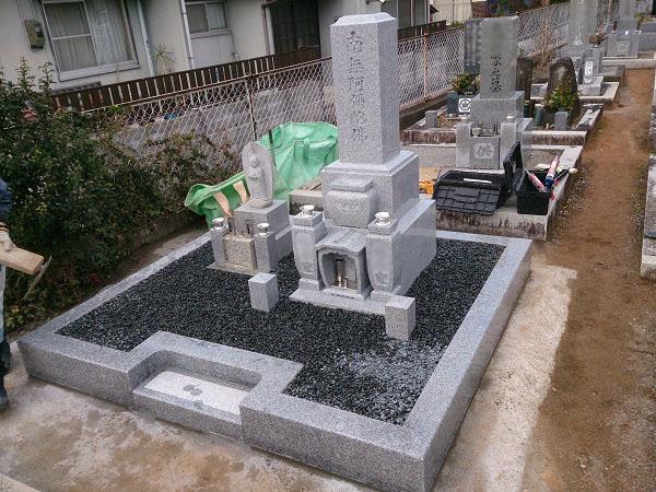 大垣市 如来寺墓地 お墓建て替えリフォーム