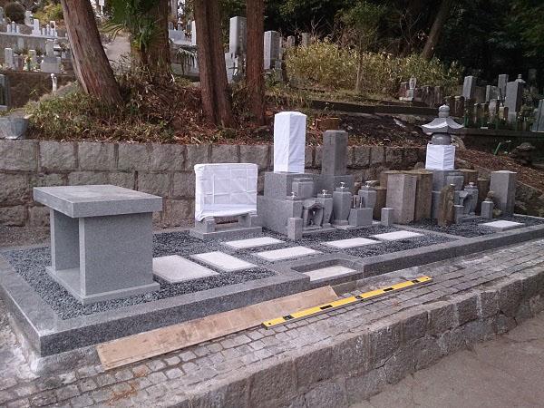大垣市 安楽寺墓地 お墓建て替えリフォーム
