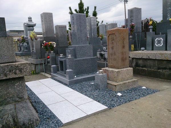 大垣市 割田・外花・外野墓地 お墓建て替えリフォーム