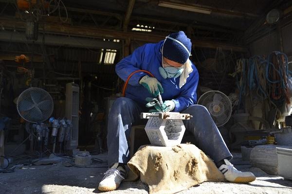 岡崎の石燈籠専門店