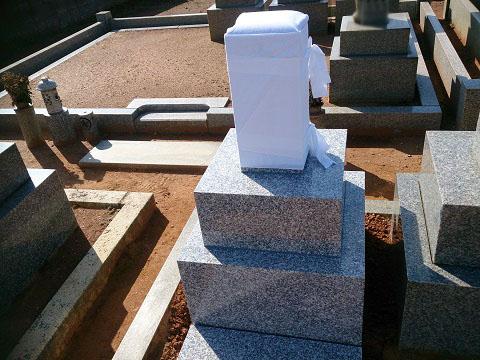 羽島市 福寿町墓地で新しい墓石をご建立