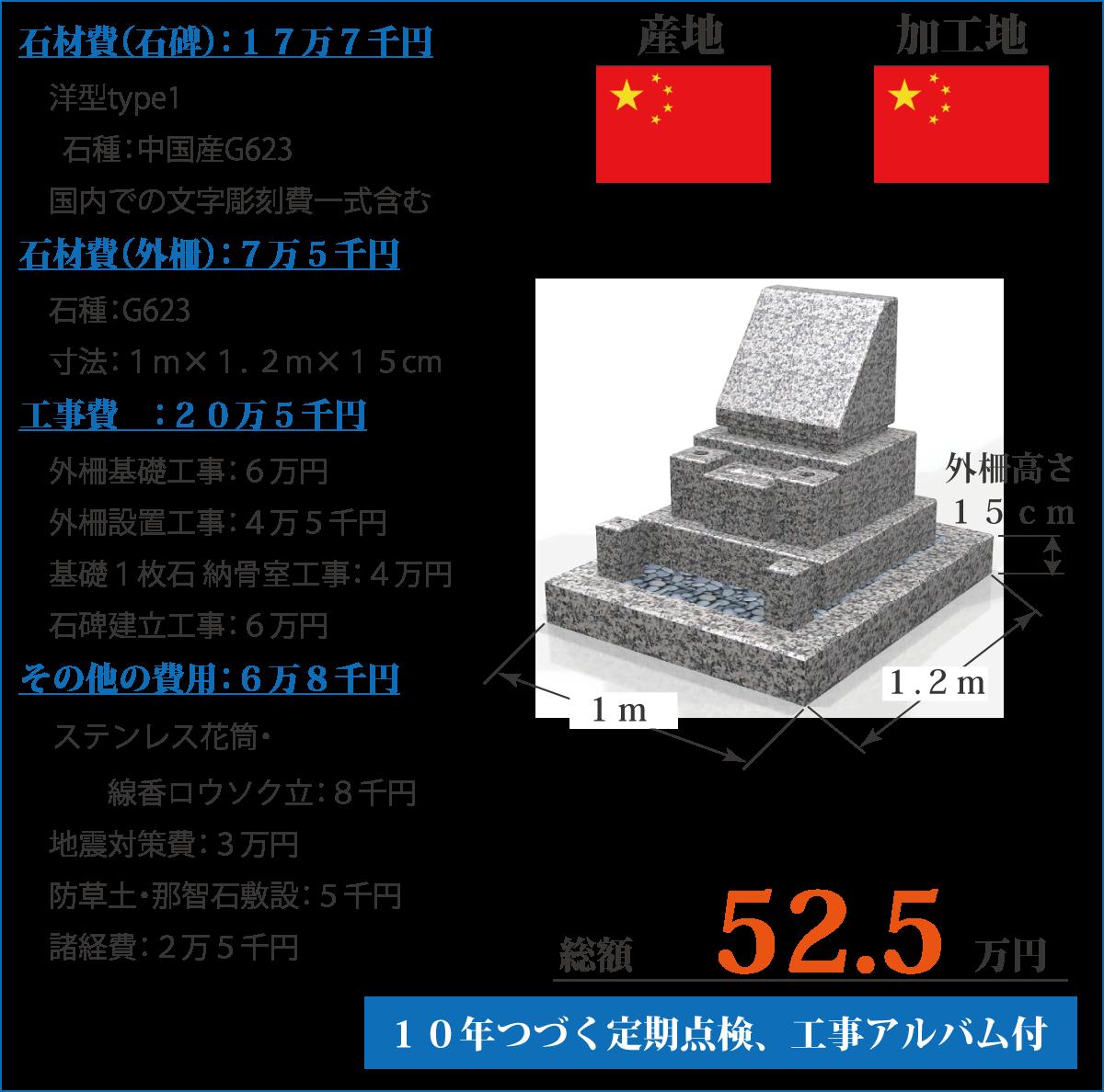 外柵セットの価格、洋型type1:中国産G623