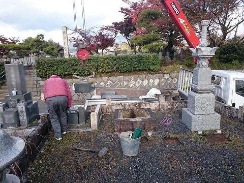 大垣市 勝山北墓地で解体工事、大垣北部霊園で納骨式