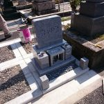 墓石展示会開催中、大垣市 羽衣霊園で墓石建立工事