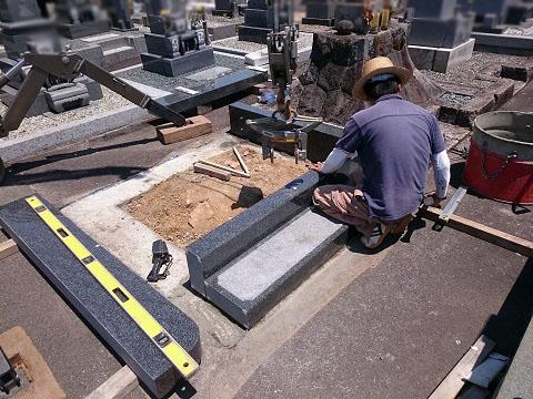 各務原市 朝日墓地で外柵設置工事