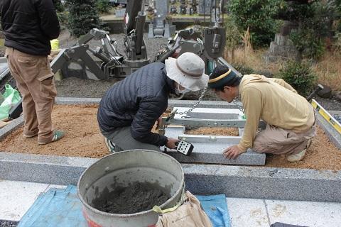 垂井町 宮代墓地で墓石リフォーム⑤墓石工事完成