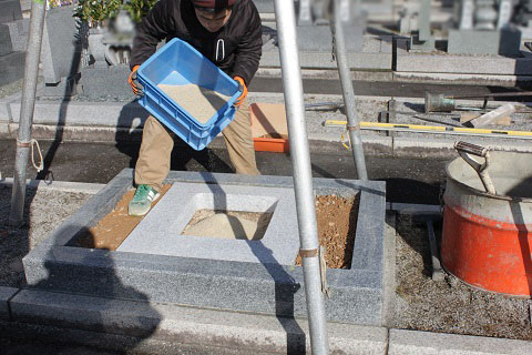 瑞穂市営 ほづみ霊園で新しい墓石工事③墓石完成