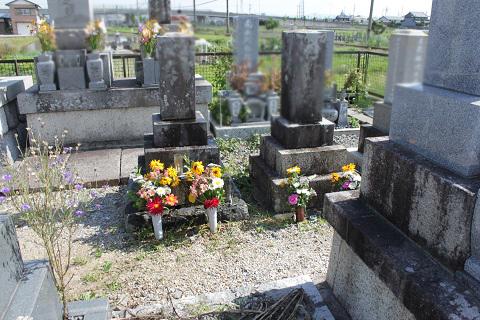 大垣市 割田・外花・外野共同墓地でお墓リフォーム工事①墓石解体