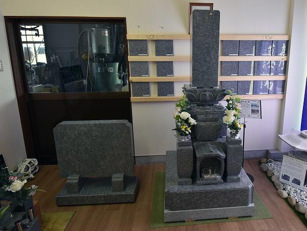 石安の展示場の庵治石