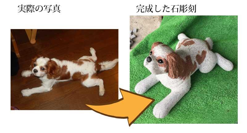 ペットのお墓・石彫刻 例4